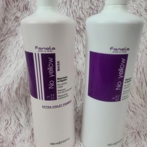 Fanolo No Yellow Shampoo and Violet hair Mask.